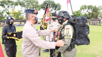 Dua SSK Personel Brimob Polda NTB BKO ke Papua Kembali ke Markas