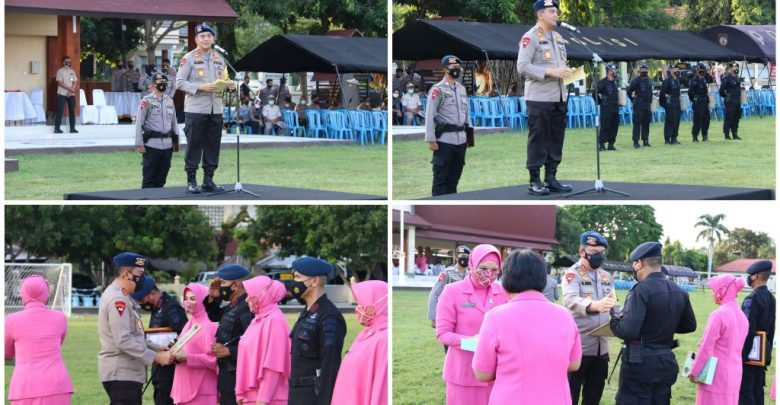 Kapolda Berikan Piagam Penghargaan 204 Personel Brimob Polda NTB