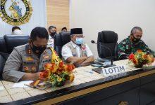 Bupati Lotim Hadiri Rapat Koordinasi Pengamanan Idul Fitri 1442 H