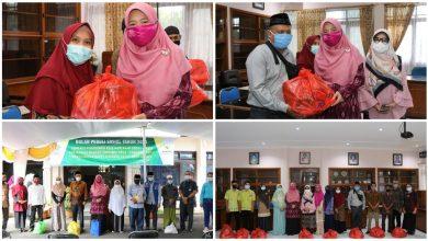 Hj. Niken Menyerahkan Bantuan untuk Kaum Dhu'afa dan Anak Yatim
