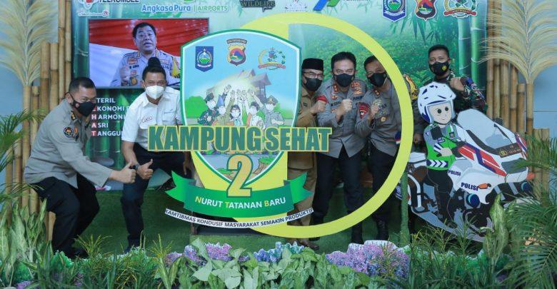 Humas Polda NTB Launching Photo Booth Kampung Sehat 2 di BIL