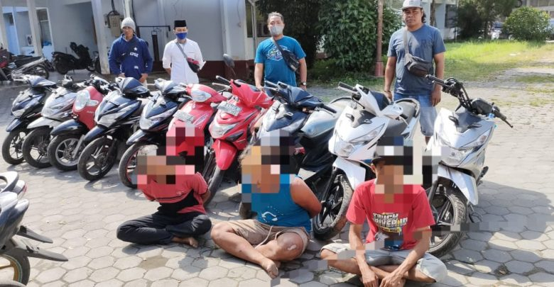 Tim Puma Polres Loteng Amankan 10 Unit Sepeda Motor