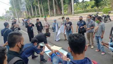 Wartawan Lotim Gelar Aksi Solidaritas Desak APH Ungkap Pelaku Pembunuhan Wartawan