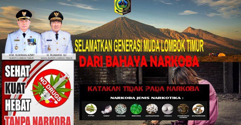 Bersama Perangi Narkoba di Kabupaten Lombok Timur Meningkat