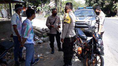 Kepolisian Sektor Kayangan Cegat Pelajar yang akan Lakukan Konvoi