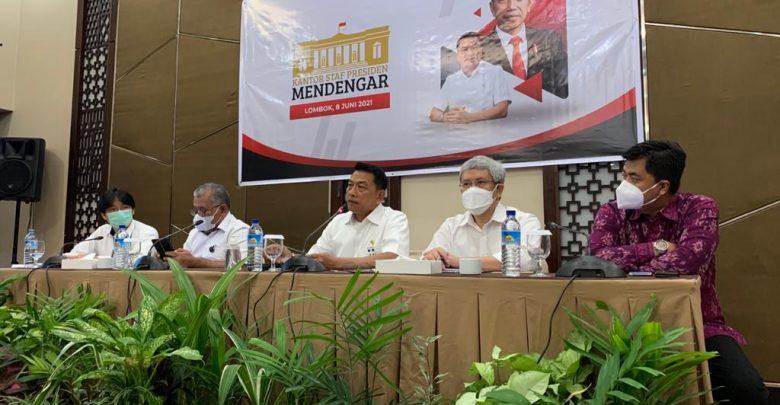 Moeldoko Ajak Tiga Deputi Tampung Kritik dan Masukan Masyarakat NTB