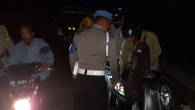 Polsek Prabarda Gelar KRYD dan Razia 3C Antisipasi Kriminalitas