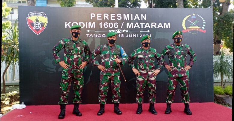 Kolonel Arm Gunawan sebagai Dandim Pertama di Kodim 1606 Mataram