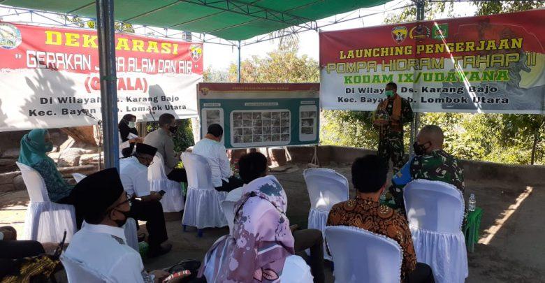 Launching Pengerjaan Pompa Hidram Tahap ll Kodam lX/ Udayana