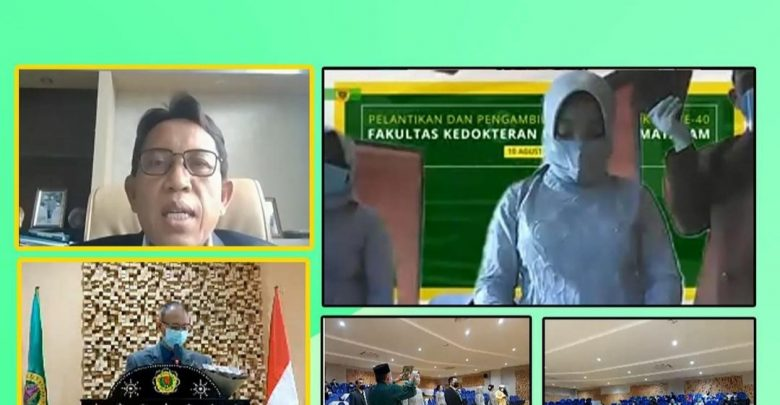 Rektor Universitas Mataram Lantik Sepuluh Dokter Muda