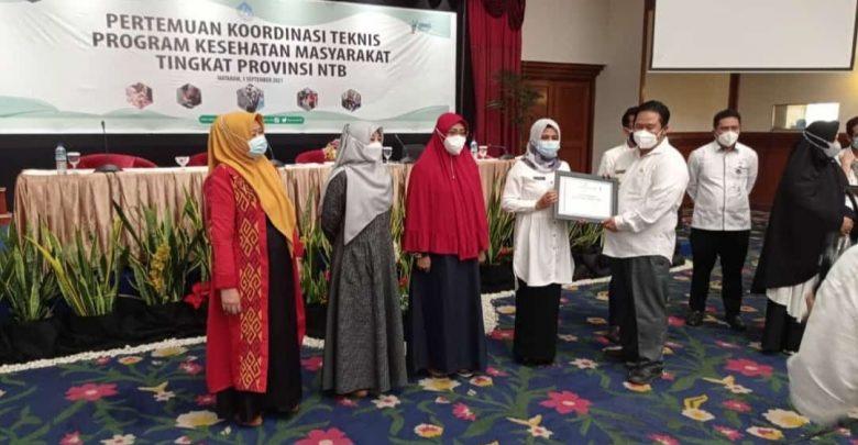 Pemkab Lotim Raih Penghargaan Promosi Kesehatan Terbaik 2020/2021