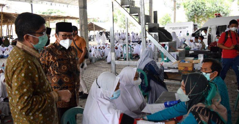Wabup Lotim Monitoring Vaksinasi bersama OJK Provinsi NTB