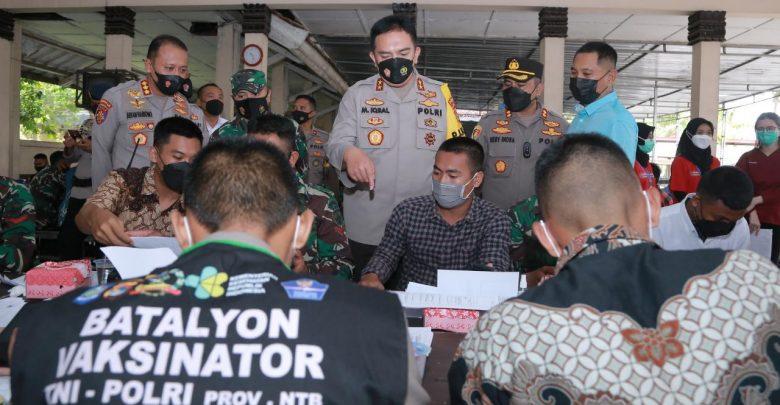 Percepat Pendataan Vaksinasi di Loteng, Polda NTB Bentuk Batalyon Pcare